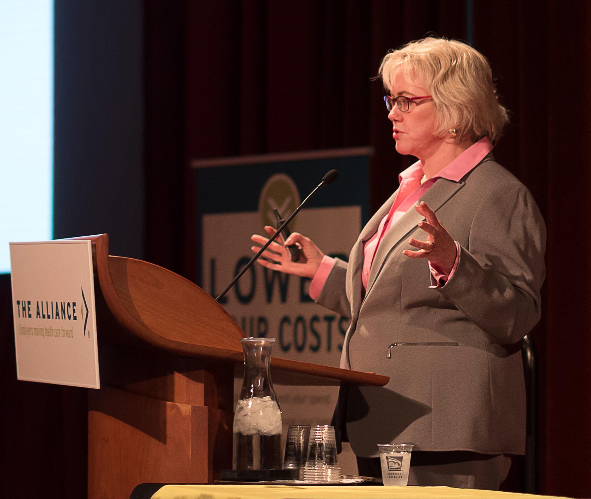 Leah Binder speaking