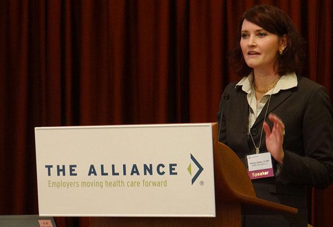 Barbara Zabawa at The Alliance Employer Event