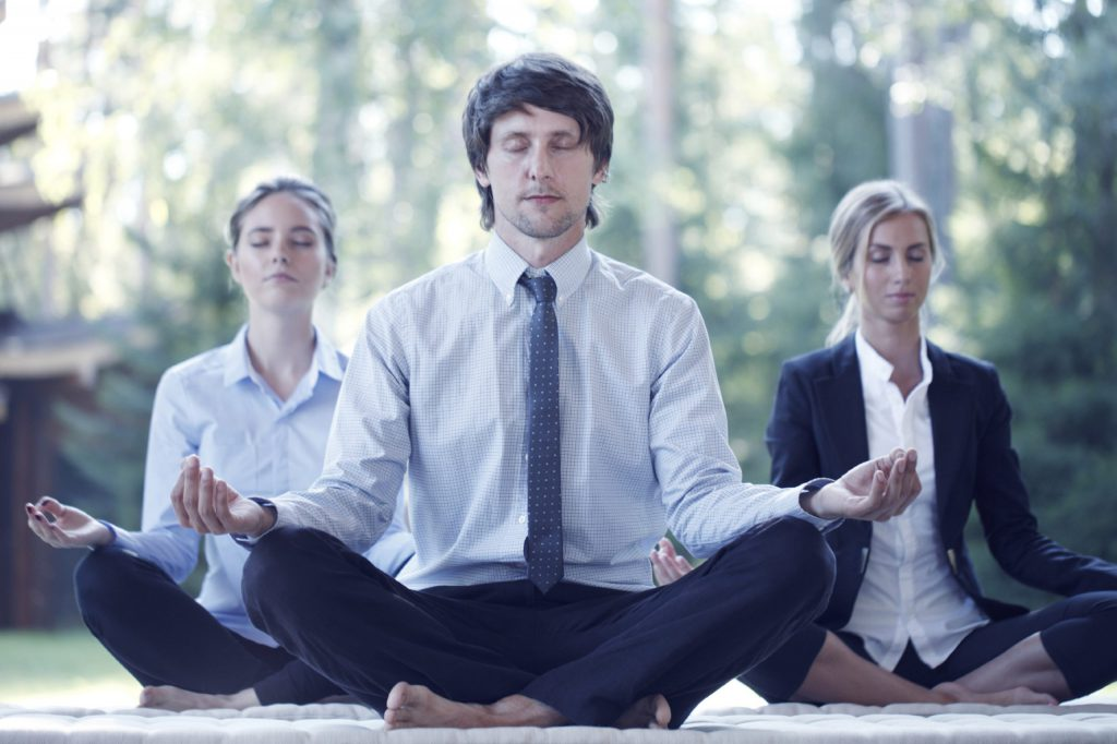wellness office meditation