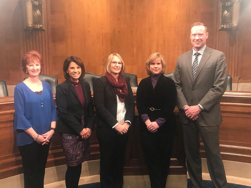 Cheryl DeMars and Alliance members at the U.S. Senate (Nov. 28, 2018)