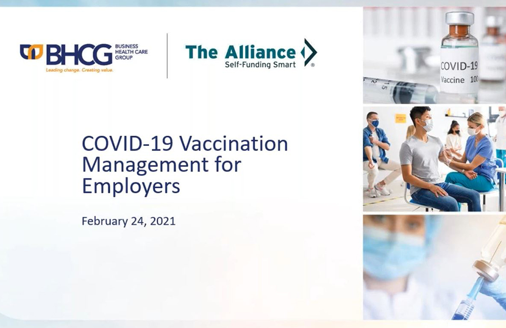 Covid-19 Vaccination Management for Employers slide