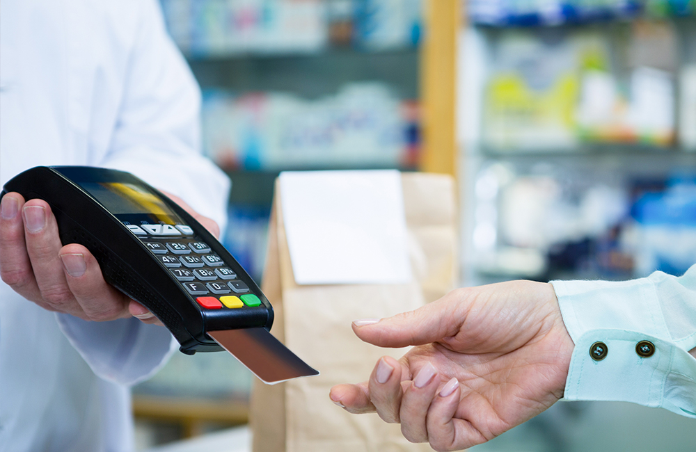 Credit card reader in store