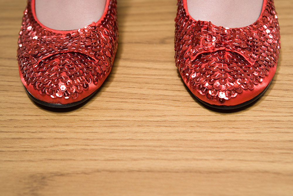 sparkly ruby red shoes